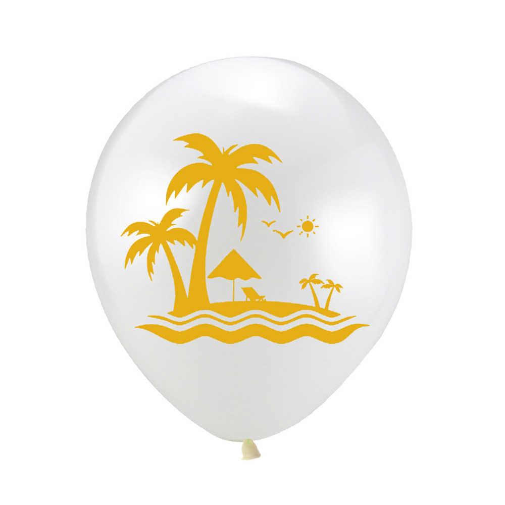 هاواي حزب زينة 15 قطعة/المجموعة مع فلامنغو أكاليل النخيل يترك كعكة توبر لشاطئ الصيف الاستوائية حزب إمدادات J5