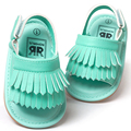 Romirus baby shoes sandálias casuais moda pu tassel sandálias para crianças crianças meninas meninos-turquesa