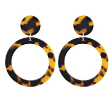 CHENFAN hot selling ear ornaments European and American exaggerated Jiheyakeli Leopard pattern womens earrings female