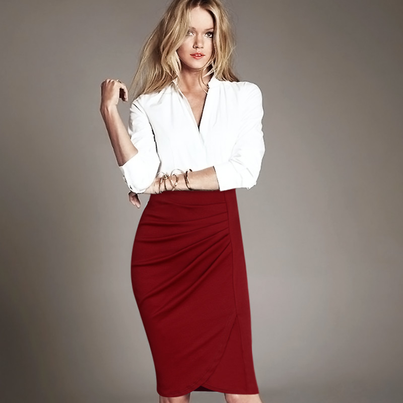 Online Get Cheap Women Business Casual Skirts Office Work ...