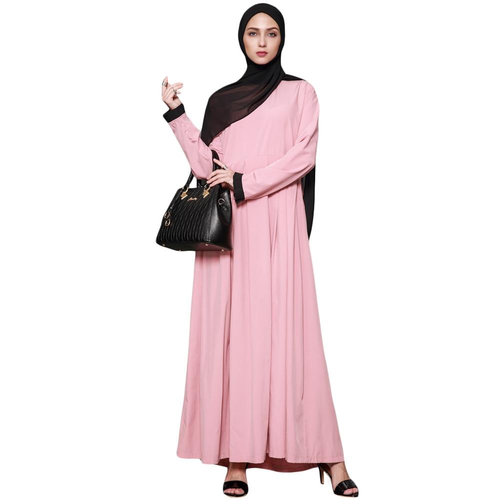 Women Muslim Maxi Dress Plus Size Ruffles O-Neck Long Sleeve Islamic Abaya Female Elegant Dresses New Women Muslim Clothes