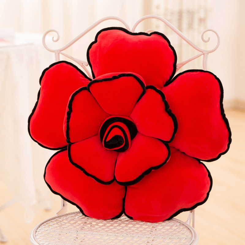 New Home Decorative Pillows Sofa Cushion Red Rose Pillow cojines Valentine