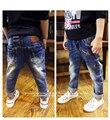 Big gancho Jeans nova marca famosa 2015 Zipper Fly alta calças magros impressão calça Bottoms para crianças sólida grande Jeans virilha