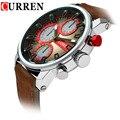 Curren Relogio masculino homens Relógios Desportivos de Luxo Marca Relógio de Quartzo Tiras De Couro Homem Relógios de Pulso Militar Montre Homme