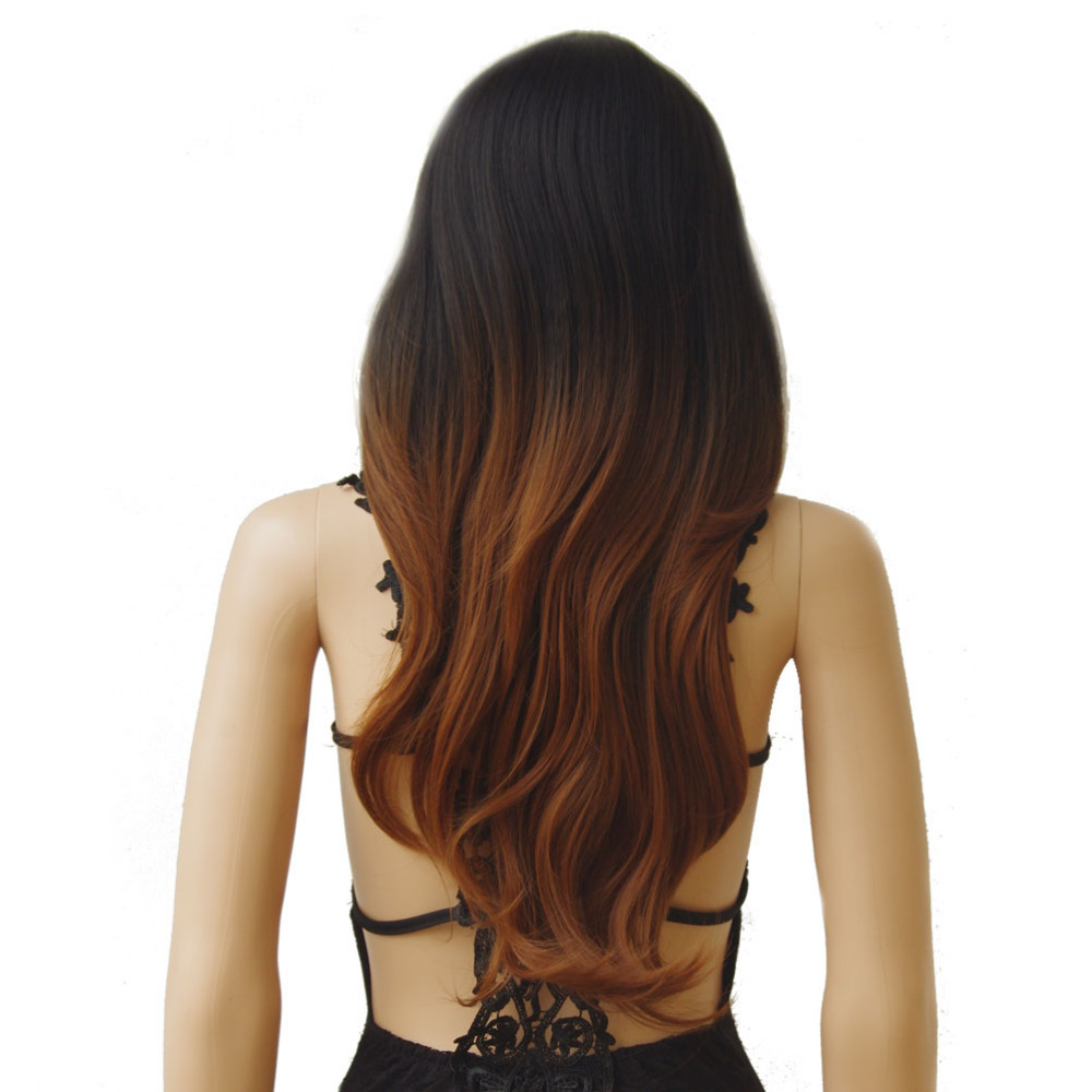 Image 3 - S noilite Synthetic Wigs Long Straight Ombre Wig Heat Resistant Fiber Mint Green Black Roots Wigs for Women Fake Hair-in Synthetic None-Lace  Wigs from Hair Extensions & Wigs