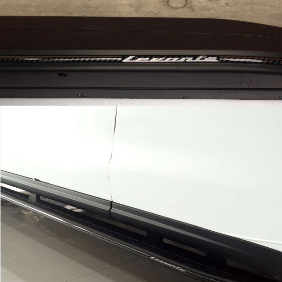 Сбоку юбка отделкой двери Бег доска для Maserati LEVANTE 2016up ABS Материал с углерода Волокно