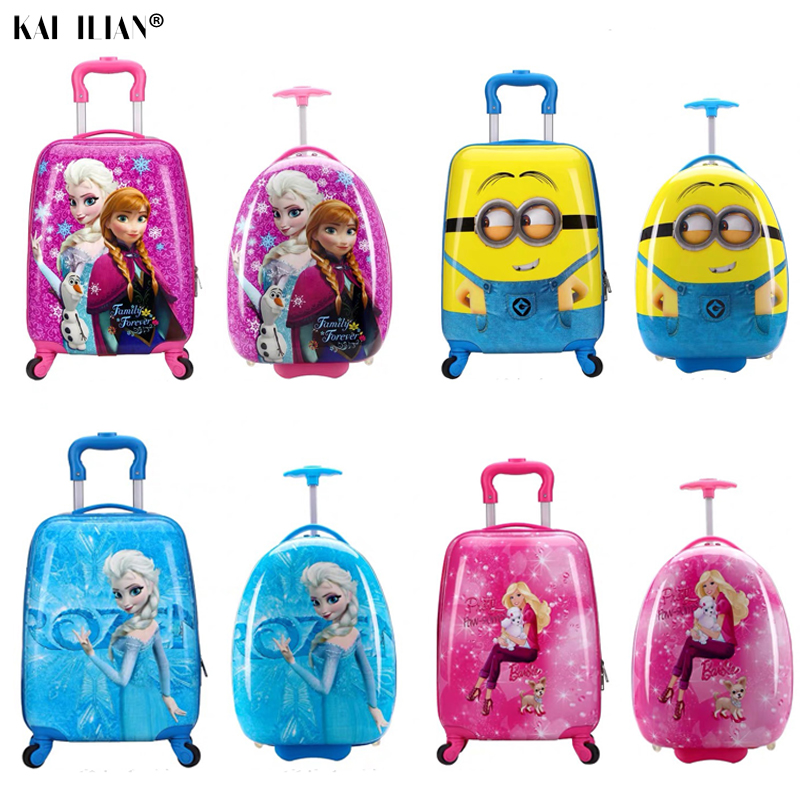 Trolley Suitcase Travel-Luggage-Bags Children Travel Kids