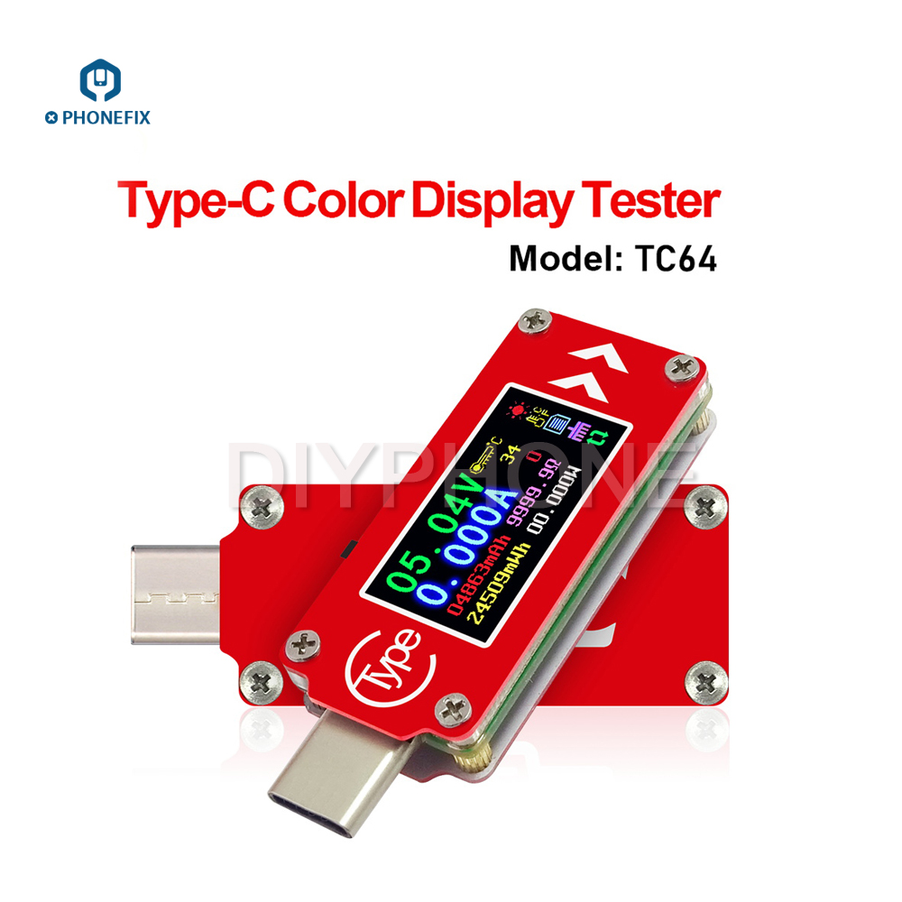 Type C Color Display Tester Colorful Mini Multimeter Amp Volt mAh Reader Phone Charging Checker Computer Work Status Monitor|Hand Tool Sets| |  - title=
