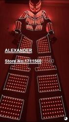 EL led robot costumes/costume led lumineux/LED Vêtements/led Lumière costumes/traje con leds-318