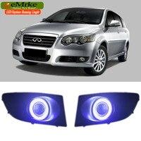 EEMRKE Car Styling Dla Chery V5 2008 Do 2012 COB LED anioł Oczu H11 55 W Halogenowe Lampy Światła Przeciwmgielne Światła Do Jazdy Dziennej DRL światło