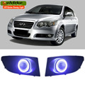 EEMRKE Car Styling For Chery V5 2008 To 2012 COB LED Angel Eye DRL H11 55W Halogen Fog Lights Lamp Daytime Running Light