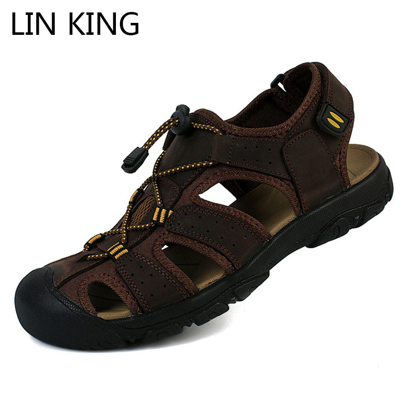 Men Summer Sports Sandal Shoes Waterproof Anti-slip Hollow Beach Aqua Shoes Size