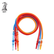 SY 1.85M Plastic Transparent Hookah Hose with Acrylic Stem Shisha Pipe Tube Cachimbas Narguile Chicha Smoking Accessories