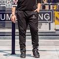 БОЛЬШОЙ ПАРЕНЬ Случайные Черные Мужские спортивные Штаны Шнурок Талии Мужчины активные Брюки 2017 Весной Плюс Размер Спортивные Штаны Для Мужчин 1459 PZ4