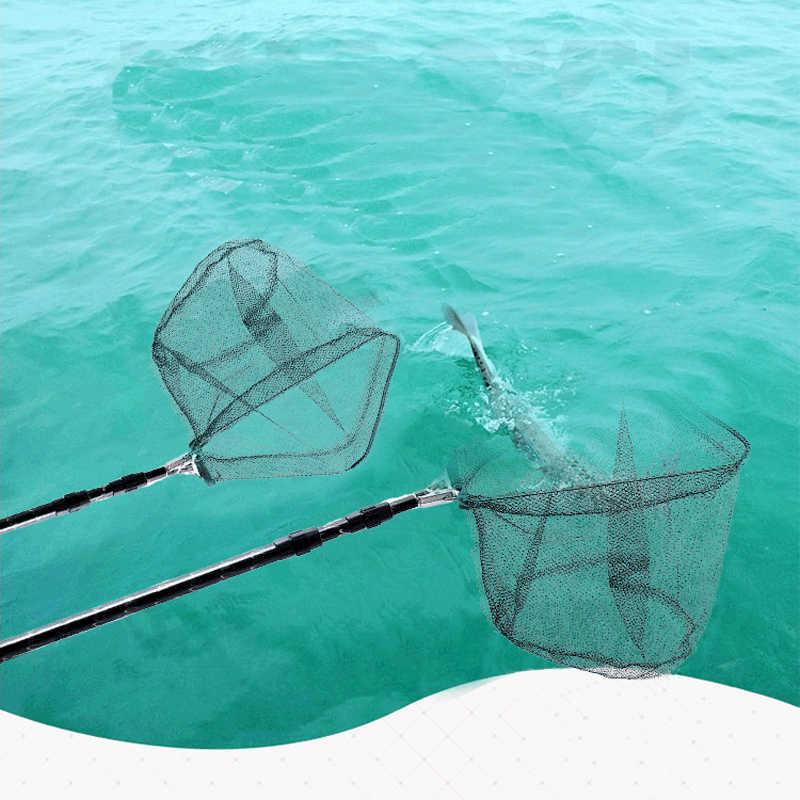 Filets de pêche en alliage d'aluminium 1.8m télescopant 3 Sections pliable filet d'atterrissage poteau coulée réseau piège filets de pêche X386