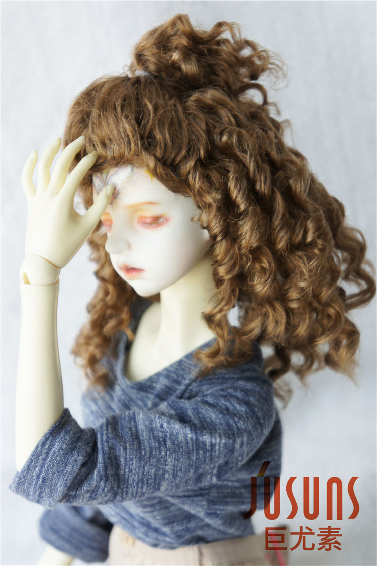 JD243 1/8 1/4 1/3 Fashion  synthetic mohair doll wigs 6-7inch/7-8inch/8-9inch Teddy Bear curly BJD hair style 1 3 1 4 1 6 1 8 1 12 bjd wigs fashion light gray fur wig bjd sd short wig for diy dollfie