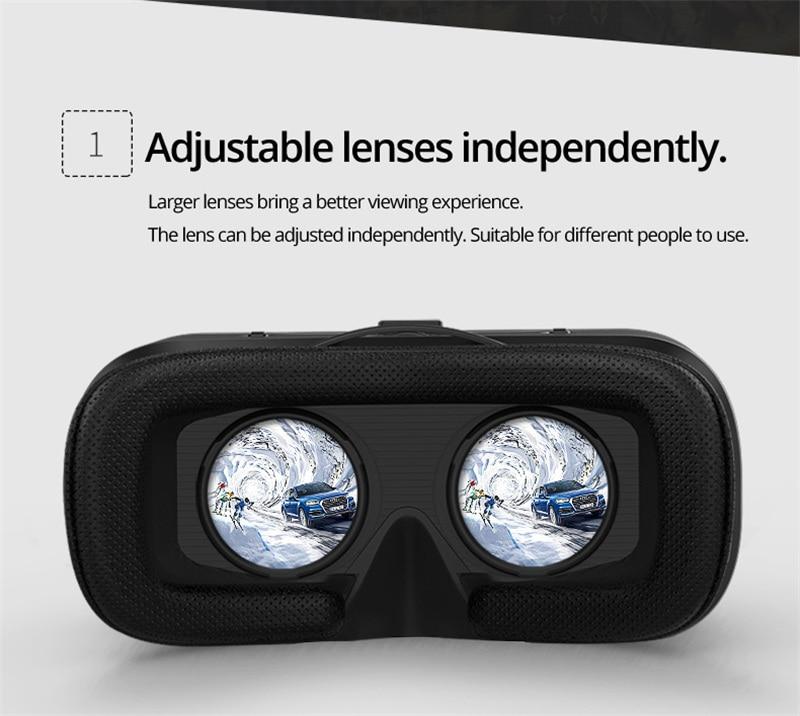 Original VR shine/con 6.0 headset version virtual reality glasses 3D glasses headset helmets smart phones Full package+GamePad