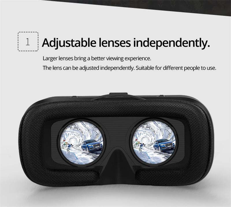 Original VR shinecon 6.0 headset version virtual reality glasses 3D glasses headset helmets smart phones Full package+GamePad 17