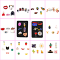 4-7 Pçs/set Broche Pin Esmalte Dos Desenhos Animados Animal Bonito Pêra Fruta Gelo creme Camisa Lapela Pinos Pinos Cachecol Broches Collar Para As Mulheres Menina
