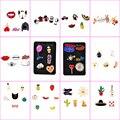 4-7 Unids/set de Dibujos Animados Broche Esmalte Animal Lindo Pera Fruta Hielo crema Camisa de Solapa Pin Collar Para Las Mujeres Chica Bufanda Broches de Los Pernos