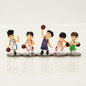 Image 2 - 5 adet/grup SLAM DUNK Shohoku basketbol oyuncusu Anime figürü bebek Hanamichi Sakuragi Rukawa Kaede modeli oyuncak çocuklar için