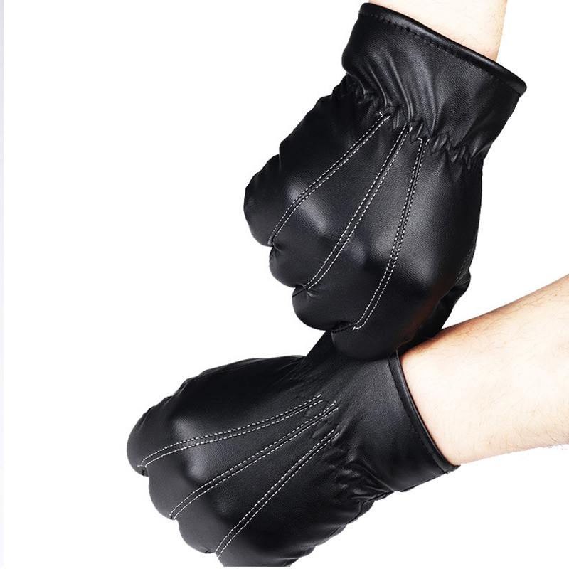 NAIVEROO Waterproof and Warm Touch Screen Gloves made of PU Leather and Conductive Fibers for Women Suitable for Spring and Winter 24