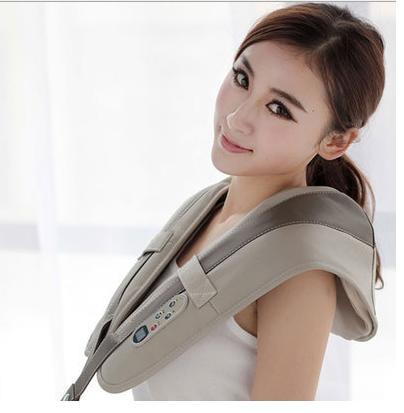 все цены на Wholesale-10pcs/CTN via courier Shoulder kneading massage belt Body massager belt back neck shape belt онлайн