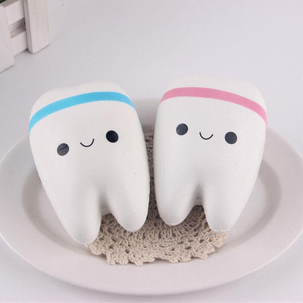 Squishy Galaxy Tooth : 11cm Cute Cartoon Tooth Pendant Squishy Toys Squishy Slow Rising Hand Spinner Kawaii Teeth Soft ...