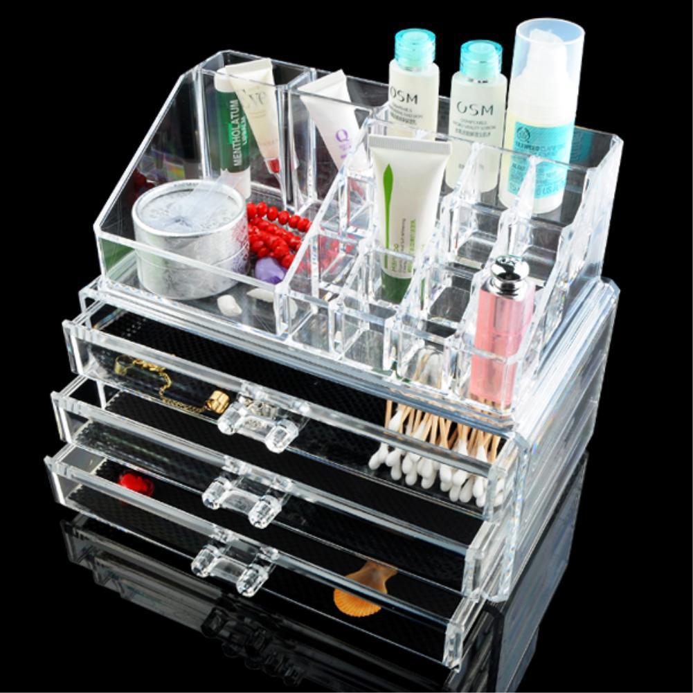 cc bag Acrylic Makeup Cosmetic Organizer Drawer Holder Clear Display Storage Jewelry Box eiffel tower stylenanda EQC347 POK-in Jewelry Packaging & Display ...