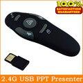 RF 2.4 GHz USB PowerPoint PPT Apresentação Presenter Mouse Laser Pointer Controle Remoto Pen Frete Grátis