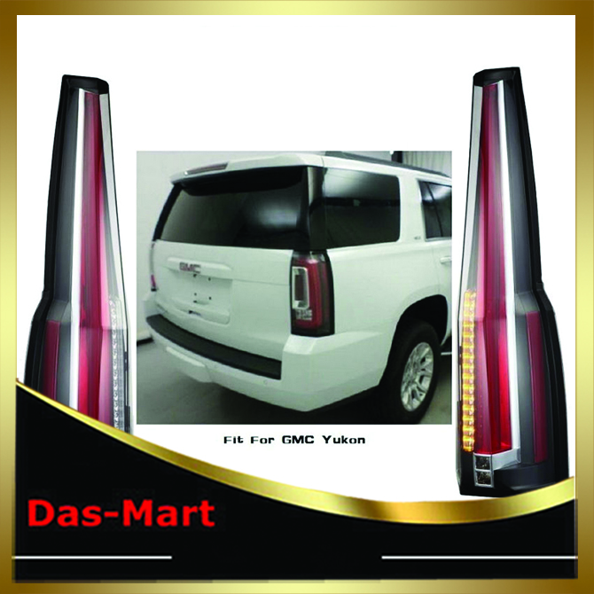2007 2008 2009 2010 2011 2012 2013 2014 Tail Lights Rear Lamp For GMC Yukon / Chevy Chevrolet Suburban Tahoe Cadillac Style car rear trunk security shield shade cargo cover for nissan qashqai 2008 2009 2010 2011 2012 2013 black beige