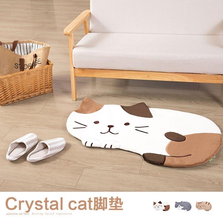 Mignon chat tapis porte tapis salon chambre grande taille antidérapant enfants tapis