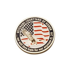Manufacturers custom-made US military metal badges  Painted flag medals commemorative coins