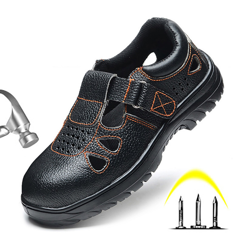Men Boots Anti-smashing Piercing Work Safety Boot Breathable Men Shoes Slip-on Work Safety Shoes Male Shoes Adult Sandals Men