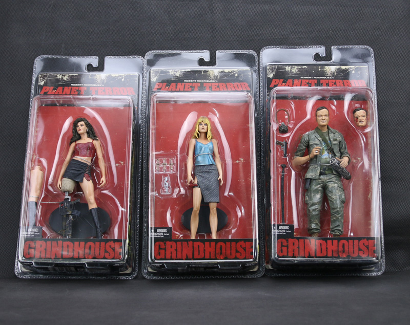 3pcs NECA Cherry Darling Dr. <font><b>Dakota</b></font> Block Rapist Quentin Tarantino 18cm <font><b>Action</b></font> <font><b>Figure</b></font> Robert Rodriguez <font><b>Planet</b></font> <font><b>Terror</b></font> <font><b>Grindhouse</b></font>