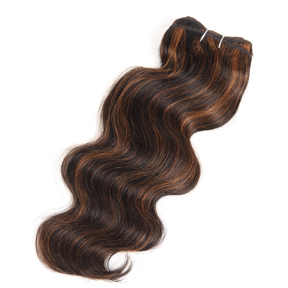 Rebecca Hair Brazilian Natural Body Wave Hair 1 Bundle Colored #P1B/30 #P4/27 #P4/30 #P6/27 Remy Human Hair Extension 10-22 Inch