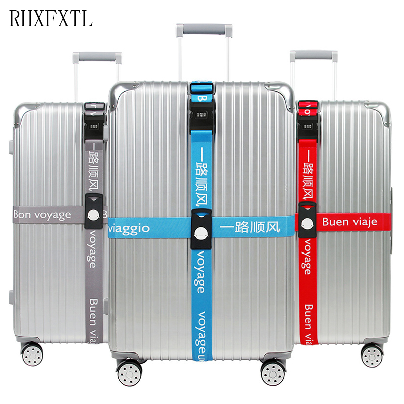 Luggage Strap Suitcase Band Three Digits Password Belt Luggage Straps Cross Belt Adjustable Travel Accessorie Suitcase Rope Band