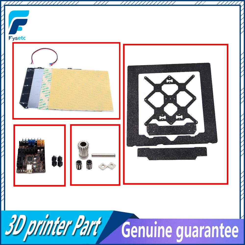 Clone Prusa I3 Mk3 Magnetische Warmte Bed Mk52 + Staalplaat + 2x Pei + Einsyrambo 1.1a Board + Gekloond Btech Dual Gear + Aluminium Frame Helder In Kleur
