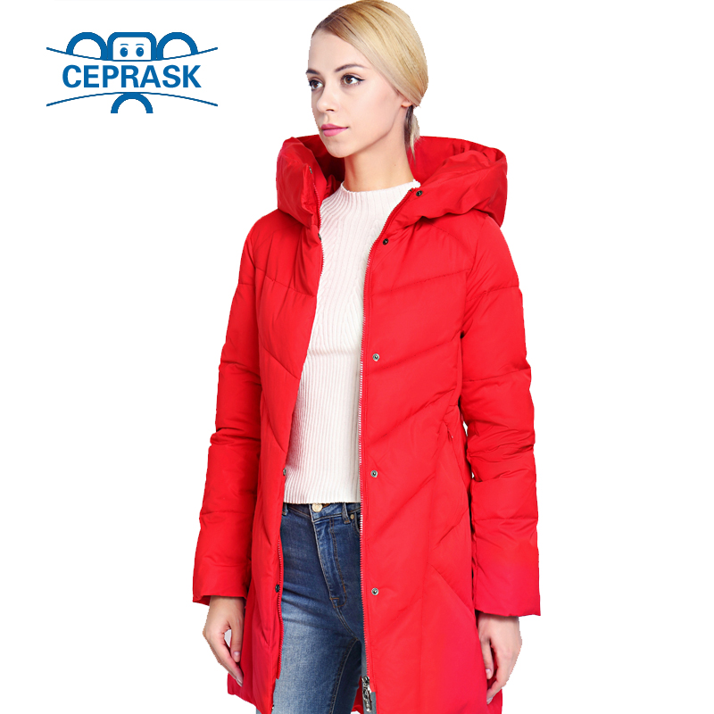 Womens Winter Jacket Plus Size Long Fashionable Women Winter Coat Hooded Warm Thickening windproof Down Jacket Parka CEPRASK