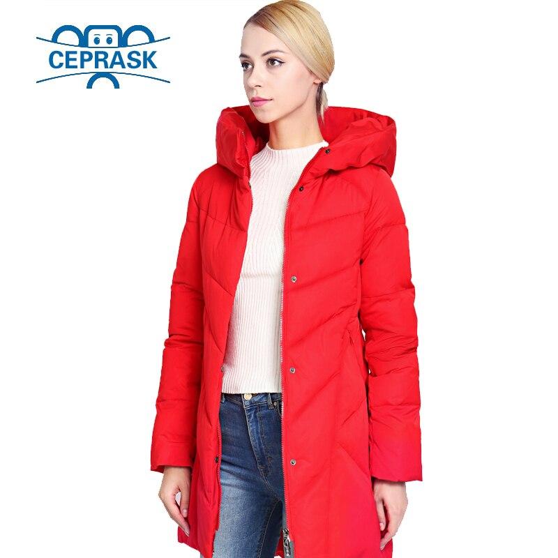 Women's Winter Jacket Plus Size Long Fashionable Women Winter Coat Hooded Warm Thickening Windproof Down Jacket Parka CEPRASK