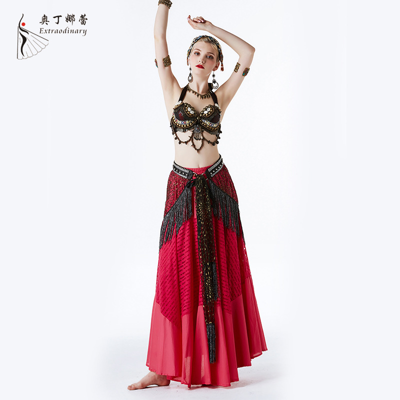 Belly Dance Costume 2019 New Classical National Dance Costume Three-Piece SetBelly Dance Costume 2019 New Classical National Dance Costume Three-Piece Set