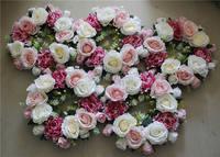SPR darmowa wysyłka! Róży Kwiat Wieniec Party Kwiatowe girlandy Ślubne Bride Pałąk kwiat Akcesoria