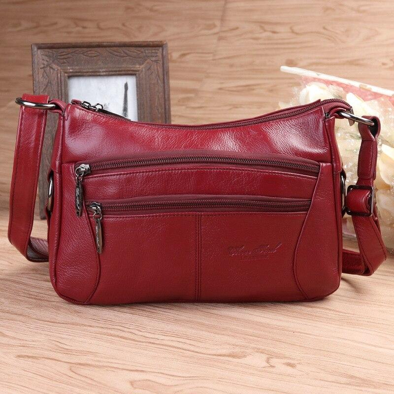 цена на Patchwork Women Genuine Leather Handbags Fashion Cow Leather Messenger Shoulder Bags Bolsas Feminina High Quality Phone Bag