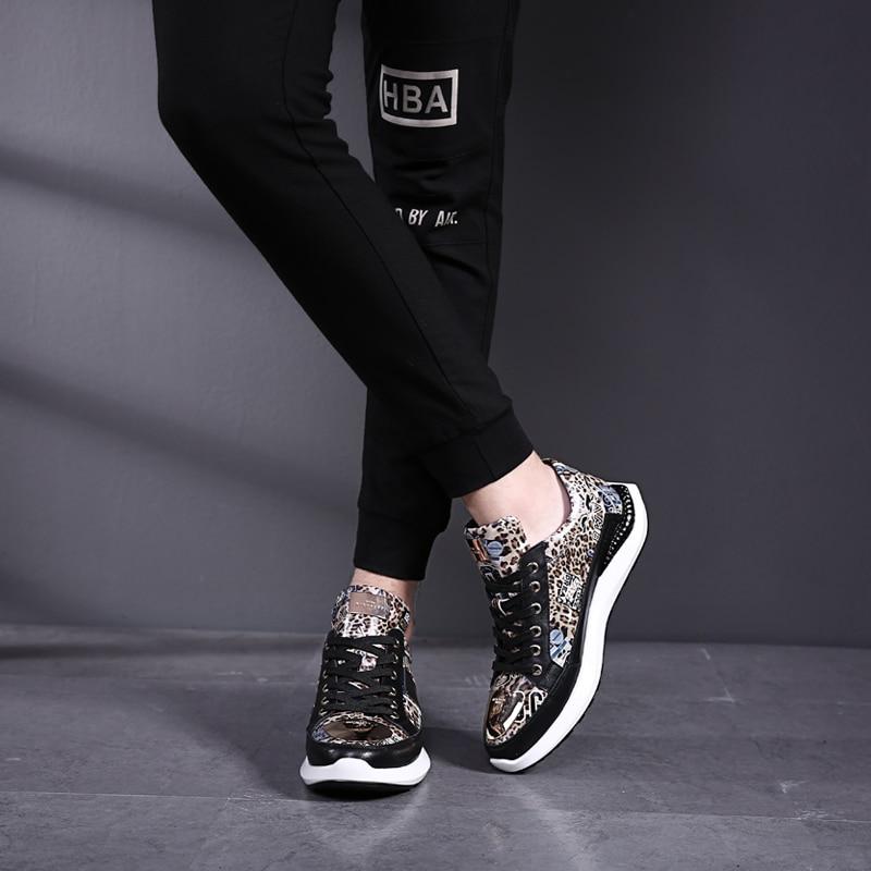 Altura Calçado Masculina Pria Respirável 2019 Homens Moda Sapatos Deslizar Novo Casuais Sepatu Verão Crescente Sneakers Mycolen Preto Sobre 74UqP