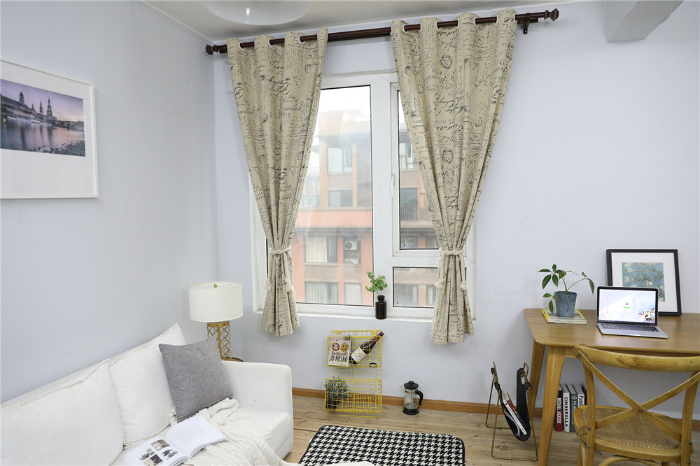 Image 5 - European Modern Print Blackout Curtain Solid Shading for Bedroom Livingroom Kitchen Window Treatment Blind Drape Home Decoration-in Curtains from Home & Garden