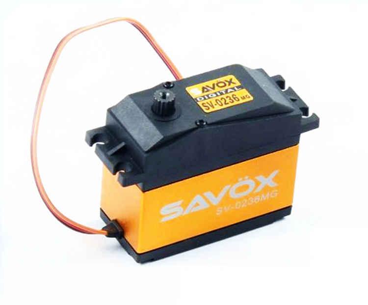 SAVOX 0236 mg 7.4 v HOOGSPANNING 40 kg 0236 Servo voor 1/5 LOSI DBXL 5IVE-T HPI BAJA 5B 5 t 5SC Steering Servo RC Auto Onderdelen