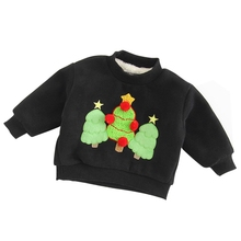 2017 New Christmas day Children's Clothing David Clothing Towel Embroidered Cashmere Sweater Boy and Girl Baby Shirt