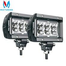 """MICTUNING foco LED K1 de 4 """"y 18W, barra de luz Led de trabajo, antiniebla, para jeep, todoterreno, ATV, UTV, SUV, camión y barco, 2 uds."""