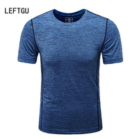 LEFTGU T Shirts Men 2017 Fashion Brand Clothing Breathable Crossfit Men T Shirt Slim Fit Tops