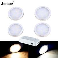 1 set Led under cabinet light for kitchen closet wardrobe lichter kast lamp 110V 220V cupboard energy saving home 12V Joneaz